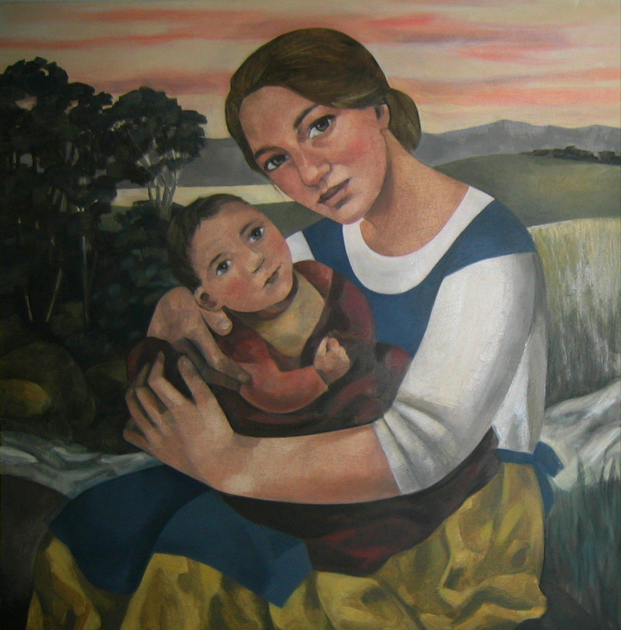 "Mother and Child     <br /><span style=""font-weight: bold; color: #ad974f;"">SOLD</span>"